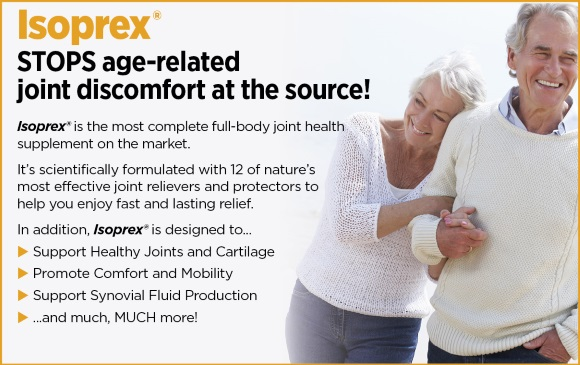 Isoprex stops age-related joint discomfort at its source!