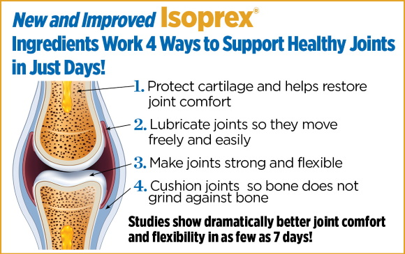 New and Improved Isoprex Ingredients Work 4 Ways To Support Healthy Joints In Just Days!
